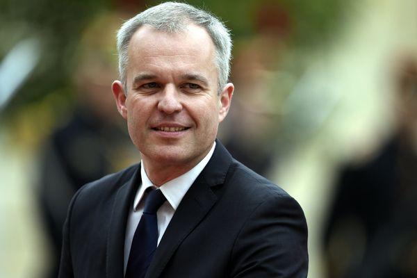 François de Rugy, lors de la cérémonie présidentielle de passation de pouvoir