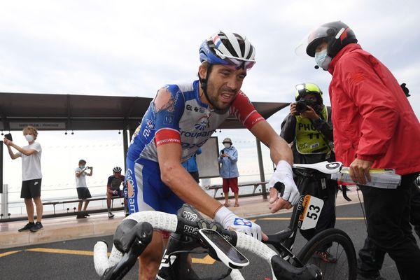 Thibaut Pinot, samedi, lors de la première étape du Tour de France 2020.