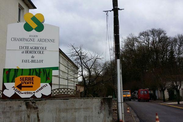 Le drame a été évité de peu au lycée agricole et horticole de Fayl-Billot au sud de Langre.