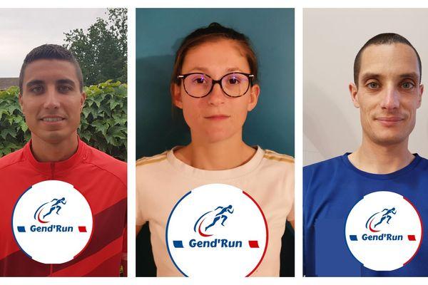 Benjamin Percheron, Marjolaine Cousset et Jérôme Pilu : les trois gendarmes du Loir-et-Cher organisateurs de la Gend'Run 2020