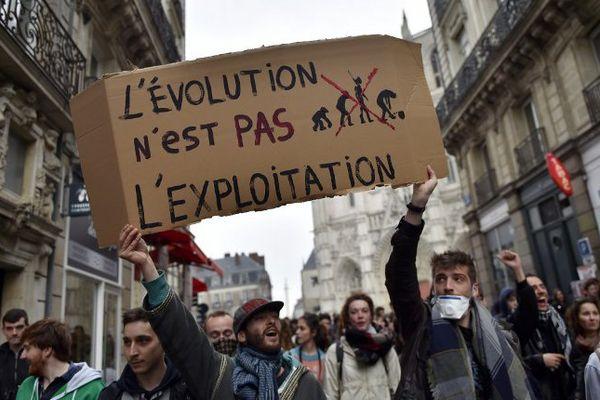 Lors de la mobilisation du 24 mars 2016 à Nantes