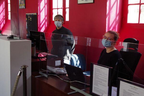 A l'accueil du musée Sandelin à Saint-Omer