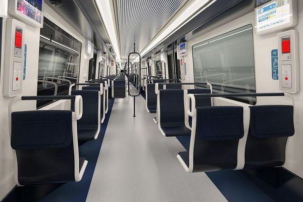 """Vue intérieure du projet de futur métro marseillais """"Sculpter la mer""""."""