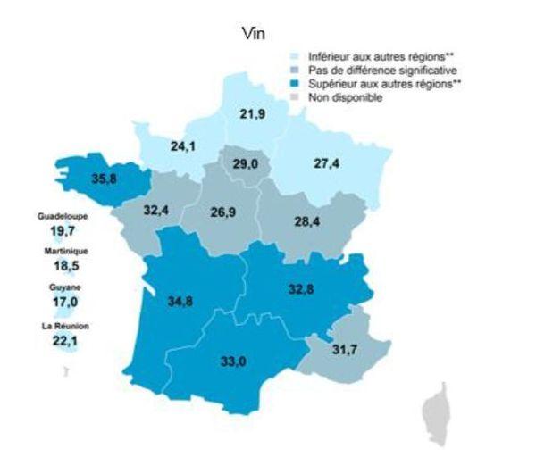 La consommation de vin en Occitanie est largement supérieure à la moyenne nationale - janvier 2020