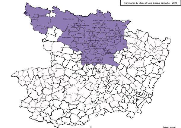Les communes du Maine-et-Loire à risque particulier 2020