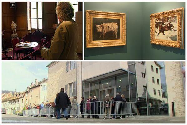 Trois époques du musée Courbet d'Ornans