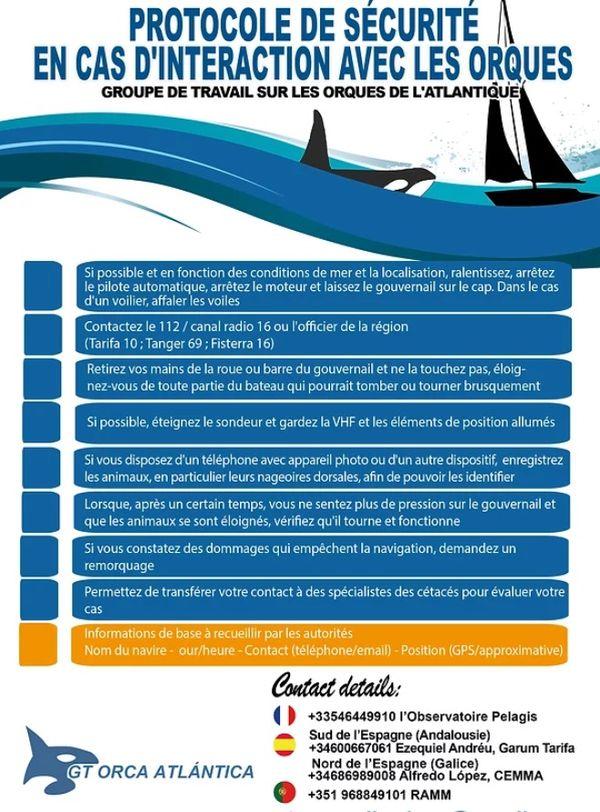 Le protocole de sécurité destiné aux plaisanciers.