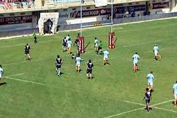 Perpignan - l'USAP marque un essai - 31 août 2014.