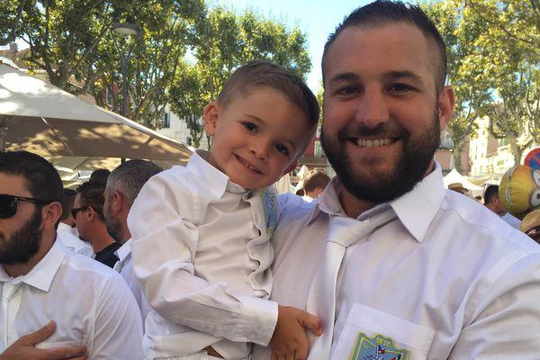 Jonathan et son fils Léonardo