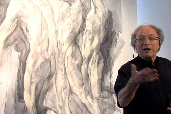 Ernest Pignon-Ernest était à Vire ce samedi pour le lancement de l'exposition qui lui est consacrée