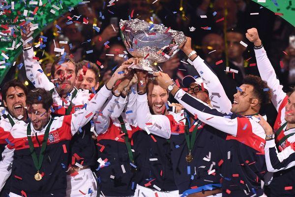 La joie de l'équipe de France le 26 novembre dernier après avoir remporté la Coupe Davis