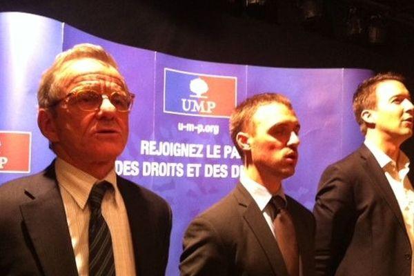 Alain Carignon lors d'un meeting en Isère