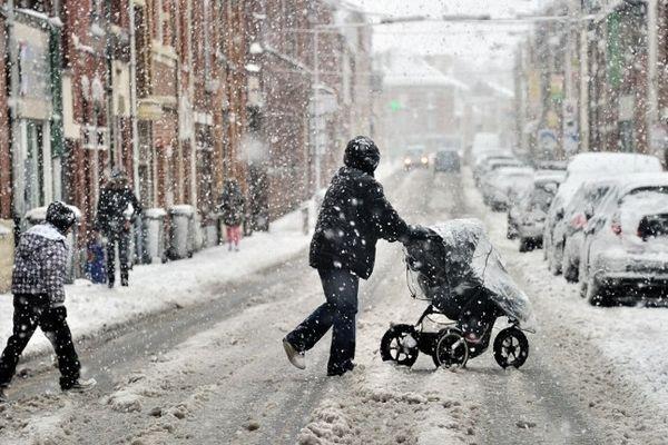 Neige à Armentières en janvier dernier.
