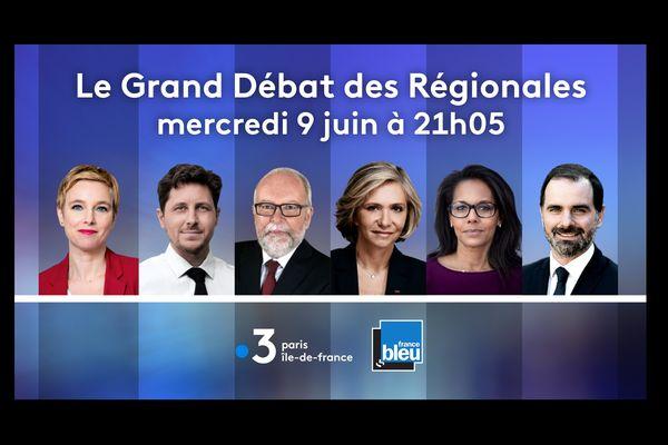 Les candidats des six principales listes débattent ce mercredi en direct sur France 3 Paris Ile-de-France.