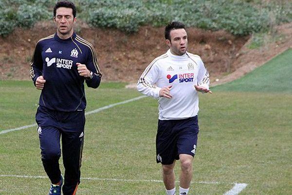 Mathieu Valbuena à l'entraînement le 2 janvier.