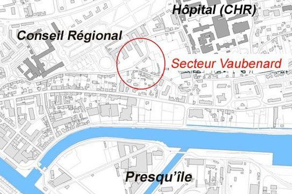 Quartier Clémenceau à Caen un nouveau quartier fait de logements et de bureaux va pouvoir sortir de terre après cette première phase de travaux.
