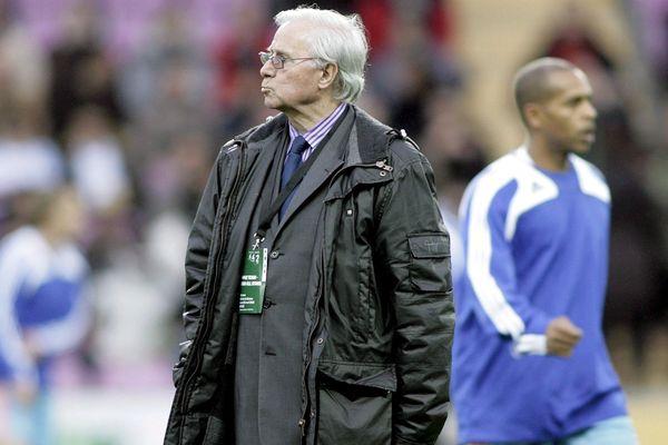 Michel Hidalgo en 2008 lors d'un match de gala à Genève. Il est décédé jeudi 26 mars à l'âge de 87 ans.
