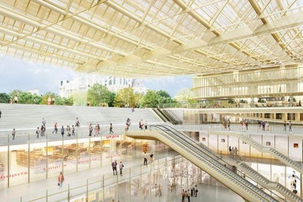 Canopée, le projet de Patrick Berger et Jacques Anziutti. Décembre 2010.