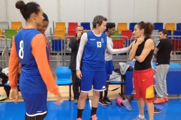 Les filles de Lattes-Montpellier à l'entraînement avant leur match d'Euroligue