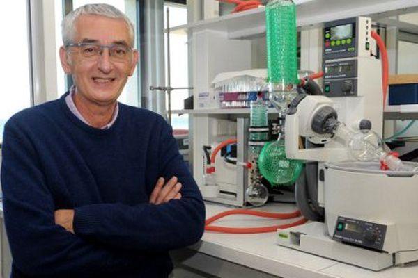 Laurent Meijer, co-fondateur de ManRosTherapeutics à Roscoff (Finistère)