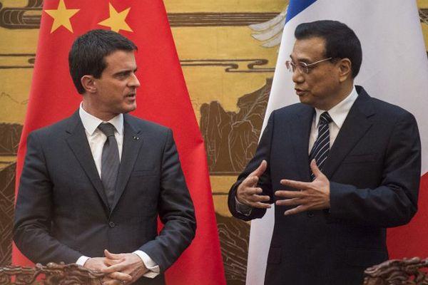 Manuel Valls et Li Keqiang en janvier à Pékin