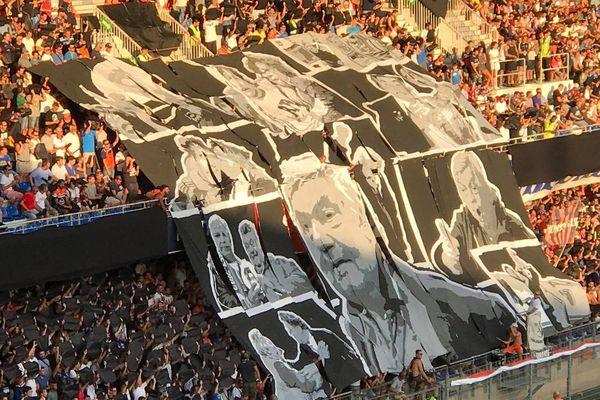 Le MHSC a honoré la mémoire de son ancien président Louis Nicollin, décédé fin juin, par une victoire contre Caen (1-0) en ouverture de la saison de Ligue 1 ce samedi - 5 août, stade de la Mosson à Montpellier