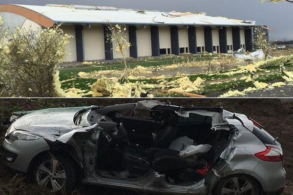 La toiture d'un gymnase a été arrachée à Arques, occasionnant un accident dans lequel un septuagénaire a été blesssé.