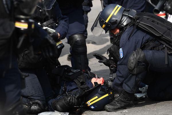 Le 1er mai, un CRS de Toulouse a été grièvement blessé à Paris