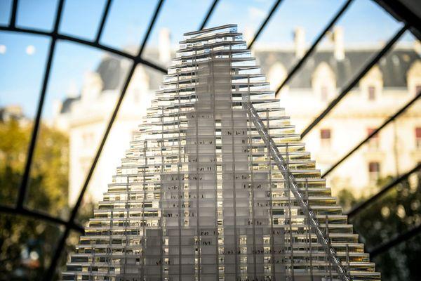La Tour Triangle, exposée au pavillon d'architecture de l'Arsenal en 2014