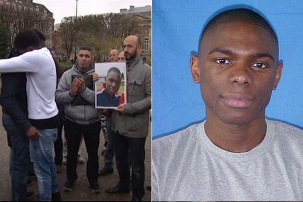 Charden Boumbas (à gauche) pleure la mort de son frère Ludo (à droite) qui s'est sacrifié pour protéger une amie.