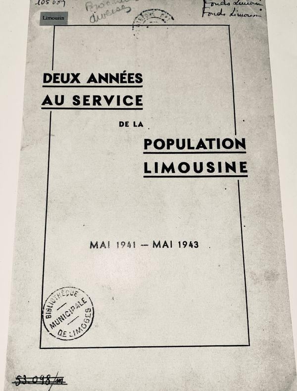 Le fascicule retraçant l'action de la municipalité d'André Faure en 1943