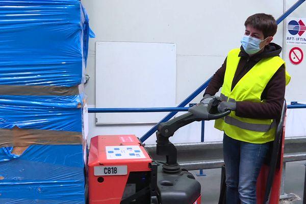 Karine Guet, stagiaire logistique