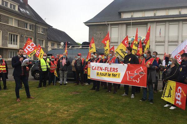 La journée de mobilisation organisées par la CGT cheminots de Caen a rassemblé près de 200 personnes ce samedi à condé-en-Normandie.