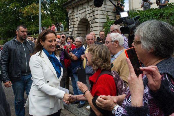 Ségolène Royal en visite à Vesoul.