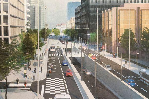 Les travaux du tunnel Vivier Merle, à proximité de la gare Part Dieu à Lyon, permettront d'agrandir l'édifice. Ils font partie des travaux du projet Part Dieu, qui ambitionne de remodeler entièrement le quartier.