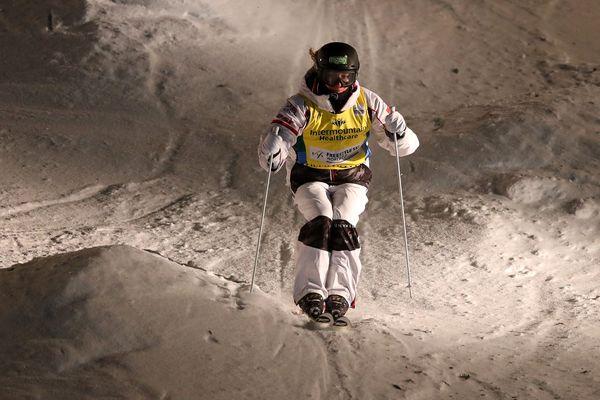 Perrine Laffont lors de l'épreuve de Coupe du monde de ski freestyle à Park City (Etats-Unis).