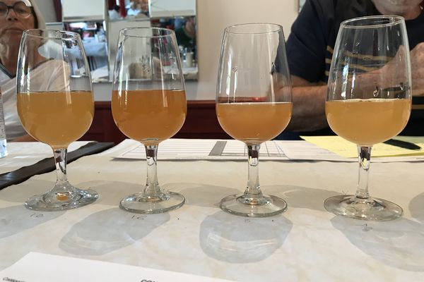 Les bouteilles sont anonymes, le cidre est observé, humé, goûté par des jurés spécialisés qui vont ensuite le noter et éventuellement décerner une médaille.