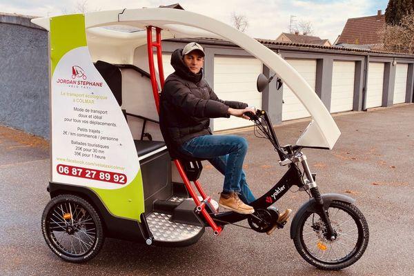 Le vélo-taxi de Stéphane Jordan