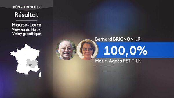 Les résultats du 1er tour des élections départementales au Plateau Haut-Velay granitique (Haute-Loire).