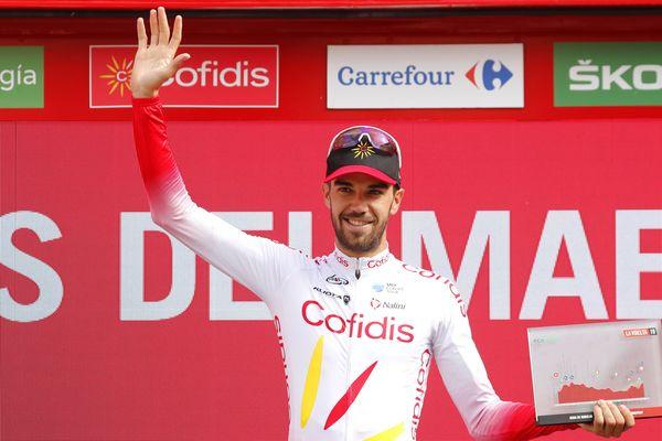 Jesus Herrada sur le podium du Tour d'Espagne