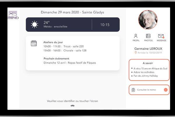 Un exemple de ce que peut communiquer la tablette numérique élaborée par la société ariégeoise.