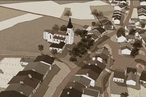 Le village en 3D, tel qu'il devait être en 1914