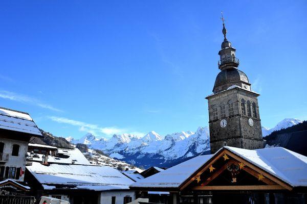 Le Grand-Bornand (Haute-Savoie) sous le neige le 16 décembre 2020.