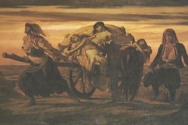 """""""La peste d'Elliant"""", de Louis Duveau (1818–1867), Musée des beaux-arts de Quimper"""