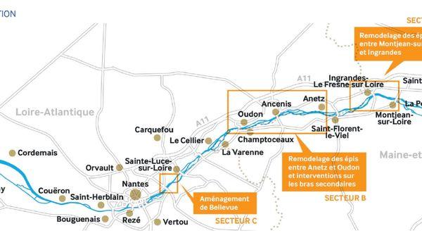 Les travaux seront concentrés sur trois secteurs sur la Loire.