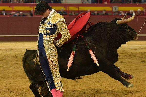 Victor Barrio. Valdemorillo, 6 février 2016. Toro de Monte la Ermita. Vous trouverez, ailleurs sur la toile, des images fixes ou animées de la cornada de Teruel. Nous, nous préférons vous montrer celle-là.