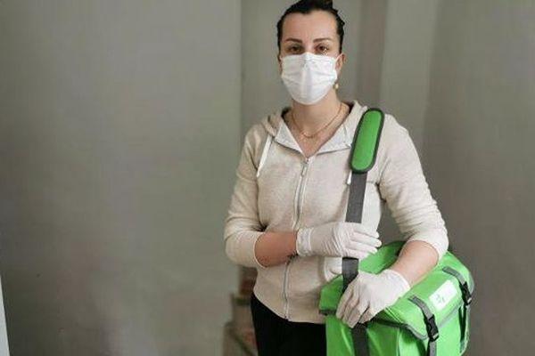 Infirmière libérale, Marion Grimaud avant sa tournée.