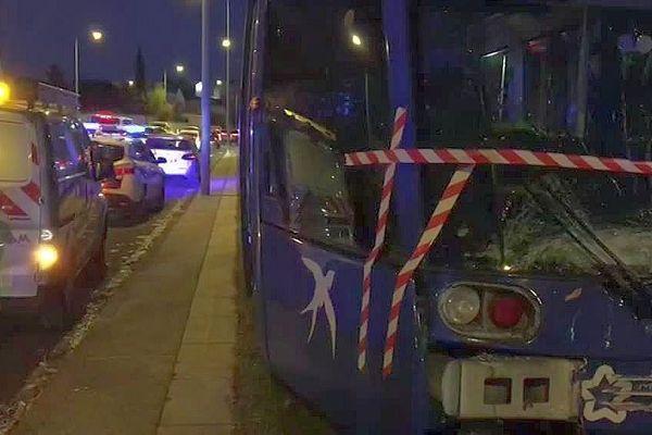 Montpellier - collision entre 2 tramways de la ligne 1 - 2 décembre 2019.