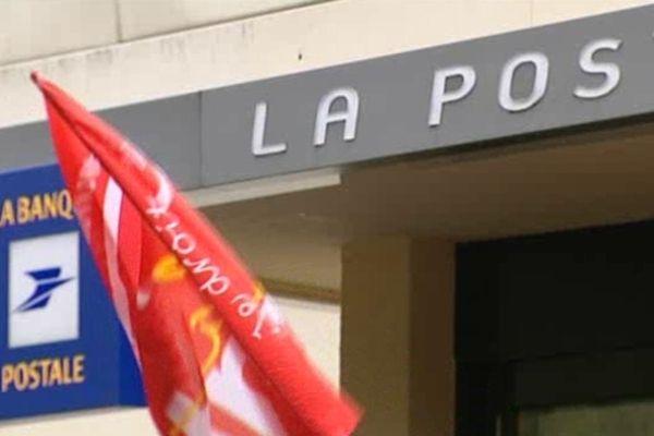 Un bureau de poste en grève ( photo d'illustration)
