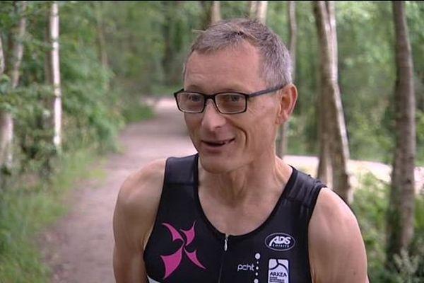 Christophe s'entraîne pour l'Ironman de Saint-Malo